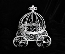 wedding photo - Princess Cinderella carriage centerpiece  Fairy tail use as  decoration wish holder to match brooch bouquets ,