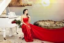wedding photo -  amazing wedding dress in red