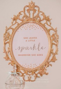 wedding photo - She Leaves A Little Sparkle Wherever She Goes™ - Pink, Gold And Glitter Nursery Artwork - 8x10 INSTANT DOWNLOAD Art Print - Sparkle Art Work