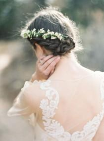 wedding photo - Gorgeous Floral Hair