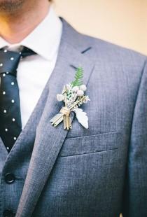wedding photo - Groom's Boutonniere Ideas
