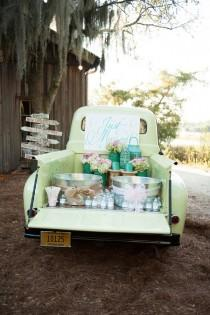 wedding photo - DIY Drink Stations