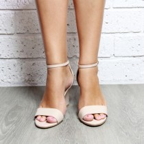 wedding photo - Nude Wedge Women's shoes, Wedding Wedge, Bridal Shoes, Nude Heels, Taupe, Ankle Strap Perfect party or wedding shoes: 'Sense of Wonder Nude'