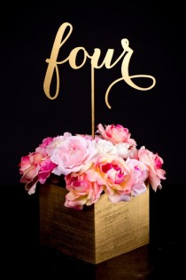 wedding photo - Wedding Table Numbers Or Cake Toppers - Soirée Collection