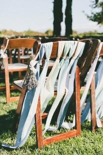 wedding photo - Lavender, Blue And Green; An Ombre Wedding On A Winery