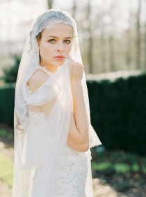 wedding photo - Boho Bridal Session in a Two Piece Gown - Wedding Sparrow