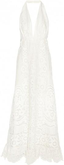 wedding photo - Valentino Broderie Anglaise Linen Halterneck Gown