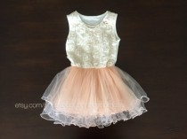 wedding photo - flower girl dress, party dress, girl layered dress, party girl dress