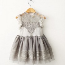 wedding photo - Girls dress lace dress birthday dress cake smash country wedding flower girl dress 1st birthday outfit