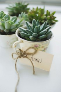 wedding photo - Inspired By Spring: Easy DIY Tea Cup Planter Party Favors