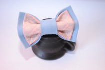wedding photo - FREE SHIPPING Light blue pink bowtie Men's bowtie Gift ideas for him Boyfrien's gifts bowties Men's bowtie Groomsmen bowties Valentine's day