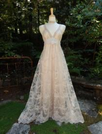 wedding photo - Wedding Dress-Custom CRBoggs Original Design-Silk charmeuse Base with Embroidered lace