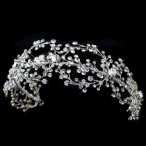 wedding photo - Bridal headband, Wedding headpiece, Rhinestone headband, Vintage style headband, Crystal headpiece, Wedding jewelry, Statement headpiece