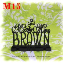 """wedding photo - 1/2"""" Thick Cake Topper Mr and Mrs  With Your Last (Family)Name  - Handmade Custom Wedding Cake Topper"""