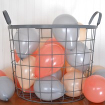 wedding photo - Coral and Gray Miniature Party Balloons, Blush