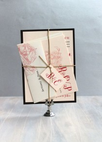 "wedding photo - Elegant Wedding Invitation, Black And White Wedding, Black Tie - ""Vintage Garden"" - Updated Colors For 2015 - Sample"