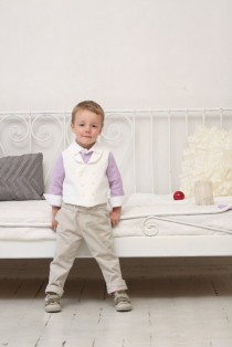 wedding photo - Ring bearer outfit Wedding party outfit Toddler boy vest and pants Boys baptism outfit Boys jacquard vest Corduroy pants Photo prop