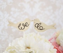 wedding photo - Wedding Cake Topper Love Birds Shabby Chic Wedding Decor (Item Number MMHDSR10017)