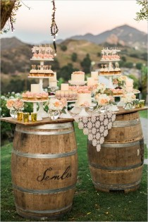 wedding photo - Rock'n Rustic Wedding Dessert Tables & Displays