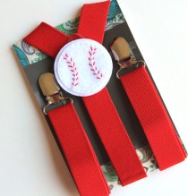 wedding photo - Kids Red Suspenders, Baseball Suspenders, Boys Suspenders, Baby, Toddler Suspenders, Photo Prop, Wedding, Ring Bearer, Birthday Outfit