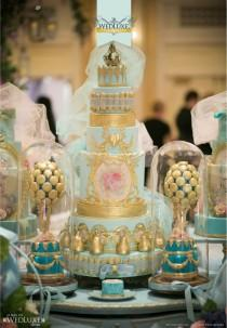 wedding photo - ~ Light Blue And Gold ~