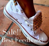 653ba6483ad Studded Converse Chuck Taylor All Star Shoes Trainers