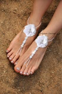 58bd43cf45e668 Wedding barefoot sandals with Swarovski Elements