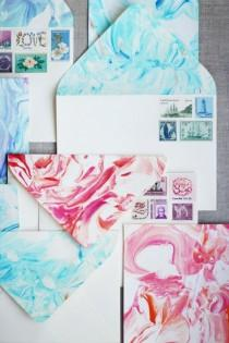 wedding photo - DIY Paper Marbling