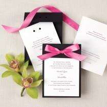 wedding photo - Color Duet Wedding Invitation