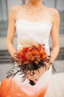 wedding photo - Modern Orange And Black Wedding Inspiration