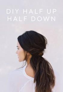 wedding photo - DIY Half Up Half Down Wedding Hair