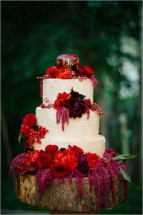 wedding photo - Colorful Wedding Cakes For The Fun-Loving Bride