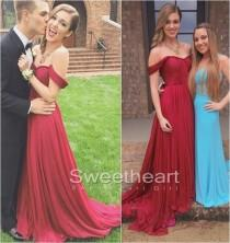 wedding photo -  A-line Red Sweetheart Chiffon Long Prom Dresses, Formal Dress from Sweetheart Girl