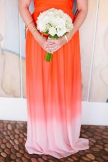 wedding photo - Mexico Elopement With A Statement Orange Dress