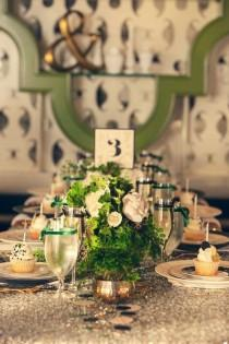 wedding photo - Green And Gold New Years Ideas From Couture Events