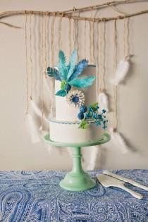 wedding photo - A Flowers And Feathers Themed Bridal Shower