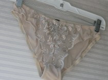 wedding photo - nude sheer panties size large