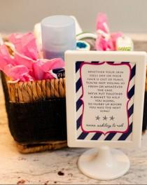 wedding photo - Nautical Wedding Bathroom Basket Sign Poem With Ship Wheel and Star Fish - Digital, Printed or Framed
