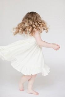 wedding photo - Flower Girl dress, white flower girl dress, Ivory Christmas dress, handmade vintage Flowergirl dress, Size 12/18 months 2t 3t 4t 5 6 7 8