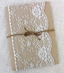 wedding photo - Lace Wedding Invitation, Rustic Wedding Invitation, Shabby Chic, Vintage