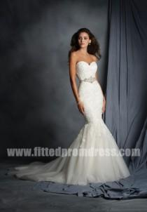 wedding photo - Alfred Angelo 2526 Cascading Lace Wedding Gowns