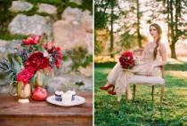 wedding photo - Gold   Red Wedding Inspiration On Valentine's Day