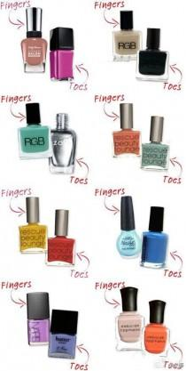 wedding photo - Cute Nail Polish Combos For Your Fingers And Toes