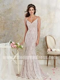 wedding photo - Alfred Angelo 8531 Lace Fit And Flare Wedding Gowns