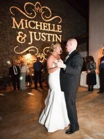 wedding photo - Gobo Monogram Lighting