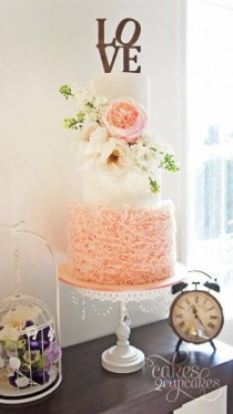 wedding photo - 26 Oh So Pretty Ombre Wedding Cake Ideas