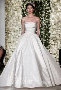 ba88f90b57 Reem Acra Wedding Dresses - Fall 2015 - Bridal Runway Shows - Brides.com