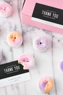 wedding photo - Make This: DIY Ombre   Color Block Donuts