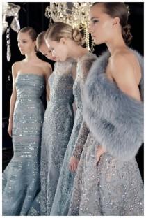 wedding photo - Metallic Eyeshadow At Elie Saab Haute Couture Fall 2014