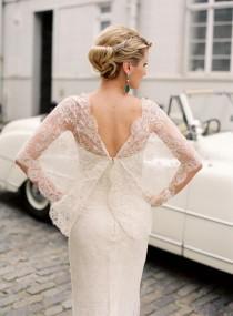 wedding photo - Lace Sleeve Elie Saab Wedding Dress
